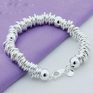 New Arrival 925 Silver Color Charm Bracelets Fine Jewelry Cuff Bangle For Women Men