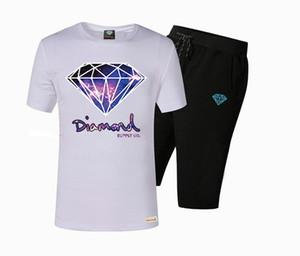 S-5xl Pembe yunus kısa kollu pantolon takım elbise pamuk t shirt kısa set erkek rahat O-Boyun mektup tasarım moda pamuk tops