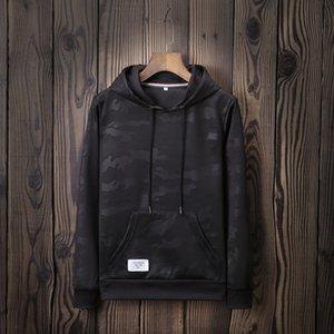 Diseñador Hombres Sudadera con capucha Marca 2019 Otoño Nuevo Camuflaje Marea Marca Suéter Logotipo Personalizado Camisa deportiva para hombres Camiseta de manga larga Hombre