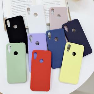 Cas d'origine Silicone liquide doux au toucher pour Xiaomi Redmi Note 7 Note 6 Note 5Pro Mi8 8 SE 8 Lite Mix3