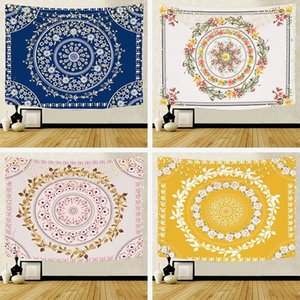 floral garland tapestry boho bohemian flower wall hanging bedroom decor modern headboard bedside tapis
