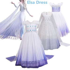 2 principessa Dress Kids Party Cosplay Elza vestiti per le ragazze di compleanno Requnzal costumi operati abbigliamento per bambini Abiti