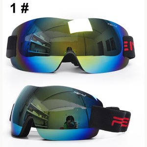 Nueva moda de esquí sin marco anti-vaho gafas protectio ojo UV400 gafas de esquí snowboard n googles gafas de sol de la motocicleta