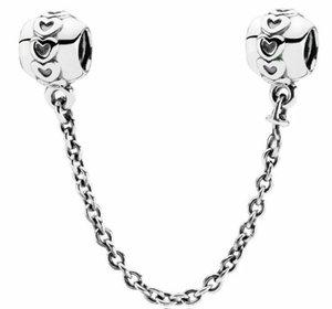 Otantik Aşk Bağlantı Emniyet Zinciri S925 Gümüş Çiçek Emniyet Zinciri Fit Pandora Bilezik Ile Withy Marka Kadife Çanta