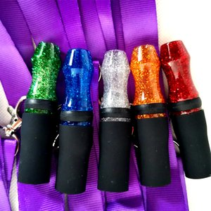 Shining Resin Hookah Mouthpieces shisha Mouth Tips High Quality Ribbon Chicha Narguile Accessories Wholesale