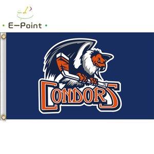 AHL Bakersfield Condors flag 3 * 5ft (90 см * 150см) Полиэстер Баннер Украшение Летающие Главная Сад Праздничные подарки