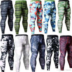 Il nuovo disegno Camouflage Pantaloni Uomo Fitness Mens jogging compressione pantaloni Maschio Pantaloni Bodybuilding Collant Leggings MMA Pantalon Homme