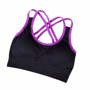 Women Yoga Stretch Workout Tank Top Padded Seamless Racerback