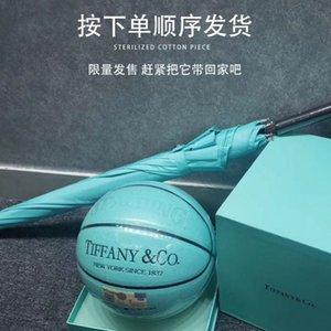 مع مربع الرجال نادر جدا إمرأة الاطفال كرة السلة الزرقاء SPALDING النسخة العالمية المشتركة hococal كرة السلة # 13؛ tiffanyco # 13؛ الهدايا رجل فاخر