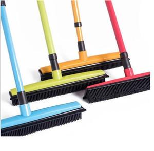10 piezas para el hogar asidero goma mascota escoba Metal hierro varilla Besom fácil de limpiar escobilla de goma venta directa de fábrica