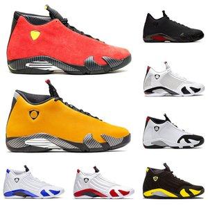 nike air jordan retro 14 14s en kaliteli yeni jumpman XIV erkek basketbol ayakkabıları SE Siyah Ferrar Kırmızı Şeker Kamışı Çöl Kumu Kırmızı Süet Eğitmenler Tasarımcı Sneakers