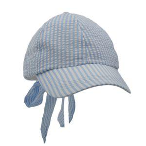 stile dolce del Berretto da baseball seersucker dolce Bow Dome regolabile a righe di cotone Tutti assorbimento del sudore di ventilazione Ragazze