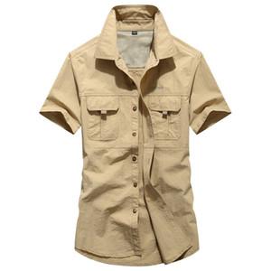 Für Männer, schnelltrocknende Hemd plus Größe Short Sleeve Einreihig Fest Shirt Mann beiläufiger Sommer-Top