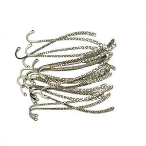 20Pcs tibetano Silver Line perline Preferiti Giunte Con loop per rendere fai da te