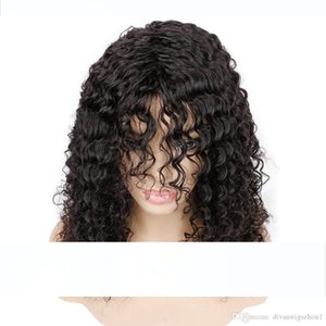 Glueless Water Wave Lace Front Wigs Unprocessed Brazilian Virgin Human Hair Wig Pre Plucked Natural with Baby Hair Wig for Black Women