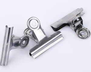 Ferramentas de escritório Grip Clips Bulldog Clips Carta Clips de Prata de Metal papel Clipe tamanho 30mm