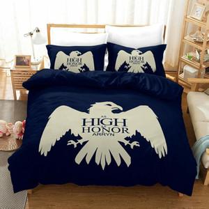 Game Of Thrones conjunto de cama King Size Abstract Águia edredon cobrir azuis marinhos Single Queen Double Twin-cama Cubra com fronha