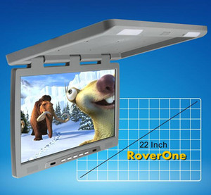 """RoverOne 22 """" inch DC 12v HD Wide Screen Automotivo Car Flip Down TV Over Tft LCD Monitor Bus Coach Roof Mount Player"""