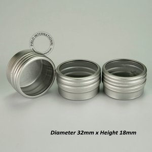 Wholesale 10g Visible Small Aluminium Cosmetic Jar,Cap With Window,10ml High Quality Portable Metal Pot Box 200pcs Free Shipping