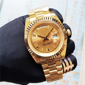 고급 남성 시계 디자이너 시계 다이빙 방수 자동 기계식 무브먼트 스포츠 스테인레스 스틸 골드 / 실버 베젤 데이 데이트