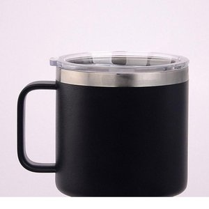 14oz Stainless Steel Cups Vacuum Insulated Mug with Lid Kid Milk Cup Metal Wine Glass Hydration Gear Wine Glass Coffee Outdoor Travel Mugs
