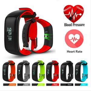 Moniteur de fréquence cardiaque intelligent P1 Wristband Smartband Montres pression artérielle intelligent Bracelet de remise en forme pour téléphone Android
