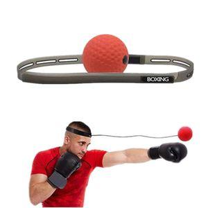 Boxkampf Ball auf String Reflex Silikon Trainingshand Auge-Koordination mit Stirnband Reaktion verbessern Muay Thai Trainingsgeräte