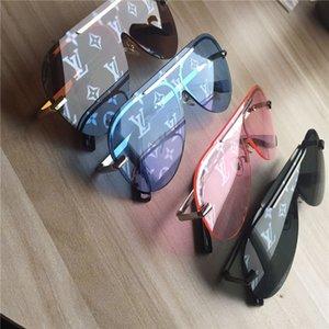 Novos estilos de óculos de sol dos homens e das mulheres à moda dos óculos sem aro uv lentes de proteção revestida olho lentes cat nenhuma caixa