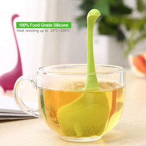 Мини-травяной чай ситечко Transport Tea Extension with Loose Leaf Cute Ball Water Monster Shape нетоксичный силикон XD22564