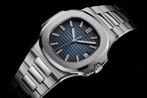 Top Nautilus-Uhr-Mann-automatische Luxuxuhr 5711 Silber Armband Blau Edelstahl Herren Mechanische Orologio di Lusso Armbanduhr Datum ikwatches
