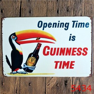 Avrupa 20 * 30cm Metal Metal Tabela Bira benim Guinness Retro Vintage Klasik Kalay Bar Pub Ev Duvar Dekoru Retro Kalay Poster
