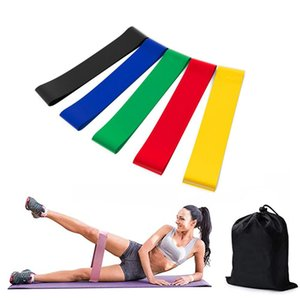 DHL Shipping 5pcs set Yoga Rubber Resistance Assist Bands for Fitness Equipment Exercise Band Workout Pull Rope Stretch Cross Training M225F