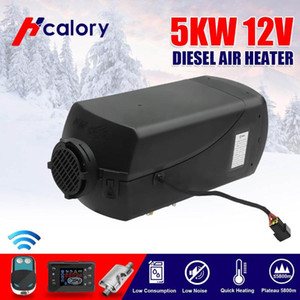 12V 5000W LCD Monitor Air diesels Fuel Heater Single Hole 5KW For Boats Bus Car Heater With Remote Control and For free