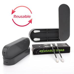 Deciniee 4box (8pcs) reutilizável Cotonetes Portátil Silicone Swab para Ear Limpeza Cosmetic Makeup pessoais Cuidados com a pele