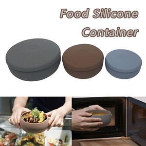 3pcs Food Storage Container Zip Lock Leakproof Silicone Containers Storage Reusable Stand Up Bag Bowl Cups Fresh Meat Bags#G7