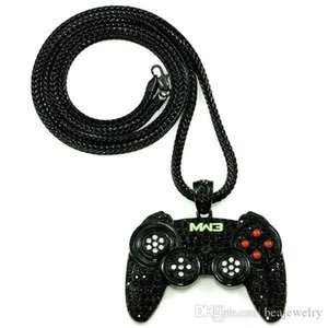 New Arrival Iced Out New Game Controller Pendants Necklace with 36inch Franco Style Chain Necklace HQ