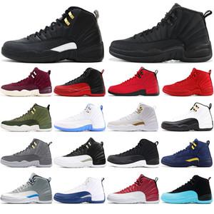 Nike AIR Jordan 12 mit kostenlosen Socken NEU 12 12s Basketballschuhe für Herren Winterized THE MASTER Universität blau Wolf grau Gym rot Sport Sneakers 40-47