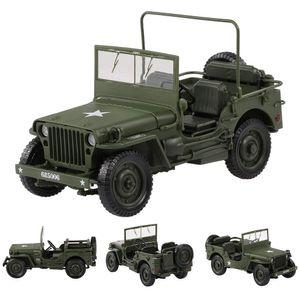 Diecast Toy modelo de carro, Militar Jeep carro, veículo Cross Country, Big Size alta Simulation, para Kid presente da festa de aniversário, Coleção, Decoração