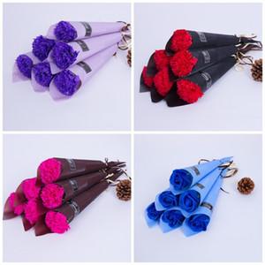 Simülasyon Karanfil Tek Gül Gillyflower Anneler Günü Karanfil Pembe Sabun Çiçek Akşam Parti Süslemeleri Kırmızı Mavi 1 09dt C1