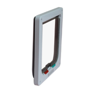 4 Ways Lockable Dog Cat Door Security Flap Gate Pet Supplies Animal Pet Cat Cage Door Pets Products Size S M L XL
