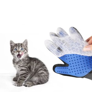 Hot Silicone Dog Glove Dog Accessories Soft Use Pet Cats Gloves Grooming Bath Hair Cleaning Comb Efficient Massage Pets Supplies