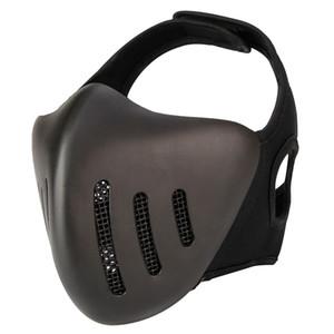 Glory Knight Media máscara facial para montar en el exterior, máscara de protección táctica transpirable para equipo de protección de campo de CS Cosplay