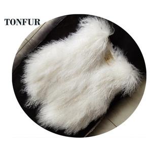 OEM auténtica oveja Mongolia Gilet piel Moda 100% real Tan ovejas chaleco de piel de encargo caliente chaleco de la piel DFP882MX191009