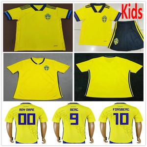 2019 2020 Sweden Soccer Jerseys JOHANSSON JOHNSSON GUIDETTI FORSBERG BERG LARSSON Custom Swedish Home Yellow Adult Kids Youth Football Shirt