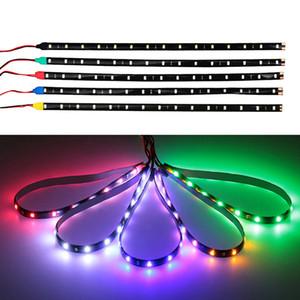 2x 30 centímetros Faixa de LED Car Light macia impermeável 12V 15SMD automóvel Luzes decorativas Atmosfera Lamp LED PVC Tiras Dia Luz DRL