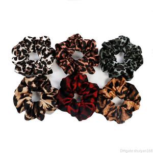 Leopard Tissu cheveux queue de cheval titulaire corde cheveux Scrunchy Bandeaux Bijoux Parti Accessoires de mode Basic bande élastique cheveux anneau de boucle DHL