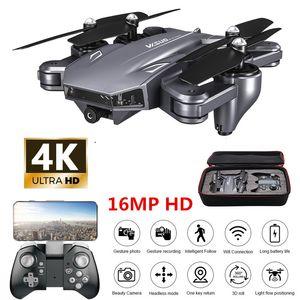 Drone 4K mit Kamera HD Hubschrauber WiFi FPV Optischer Fluss Positionierung faltbare Doppelkamera Selfie Drone RC Quadcopter