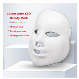 LED Therapy Facial Mask 7 colori maschera di protezione della pelle macchina Photon Light Therapy Cura di bellezza del fronte per la casa US
