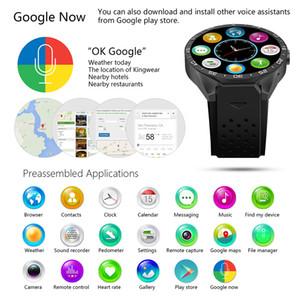 """KW88 GPS intelligent Montre moniteur de fréquence cardiaque étanche WIFI 3G LTE Wristwatch MTK6580 1,39"""" Wearable Smart Devices Bracelet pour Android iPhone"""