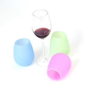 Coppe in silicone bicchieri di vino infrangibile Stemless parte alimentare del silicone di grado Lavastoviglie Strumenti Bar Altro Bar Prodotti